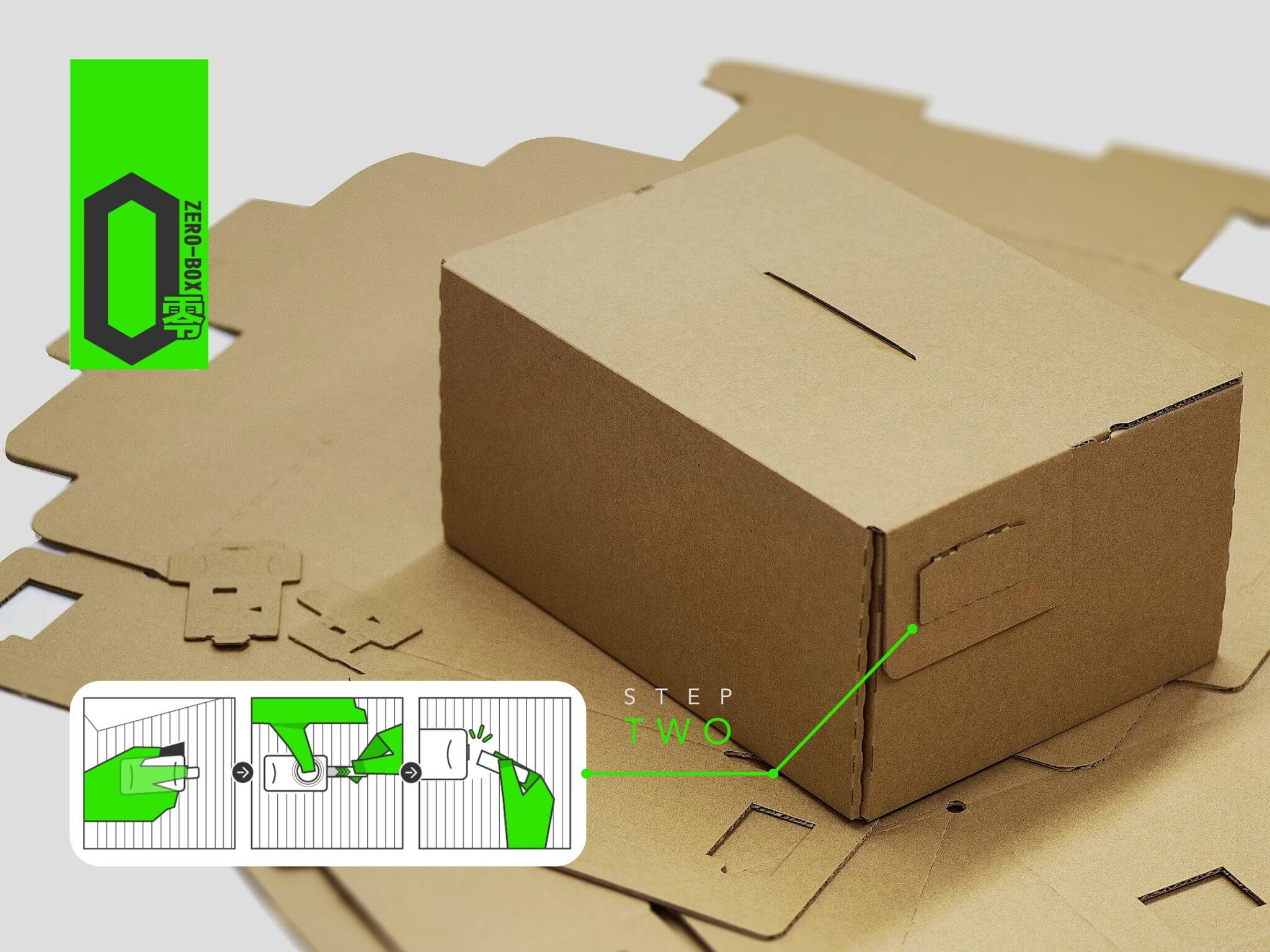 ZERO BOX - TAPE FREE SHIPPING BOX