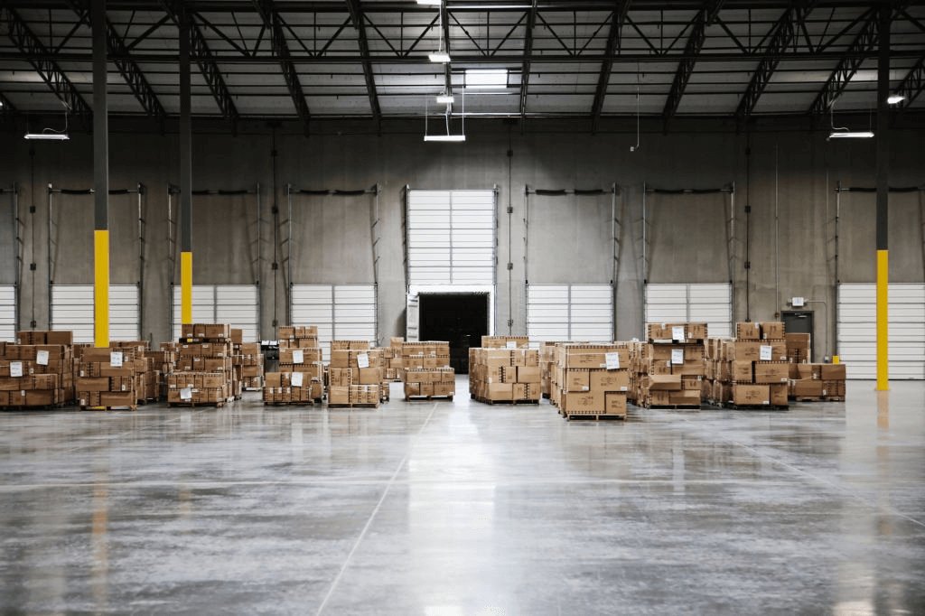 Corrugated Paper Pallets in warehouses