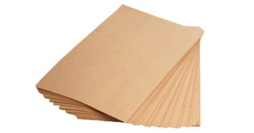 a stack of kraft paper