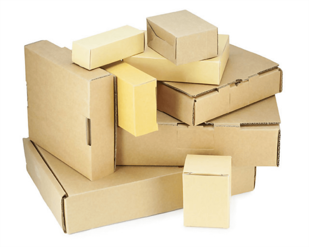different sizes of carboard boxes